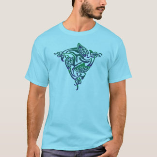 Blue and Green Celtic Bird T-Shirt