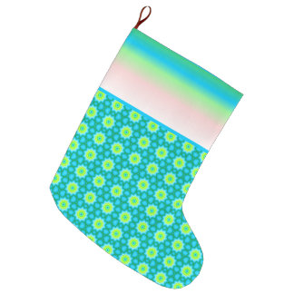 Blue and Green Christmas Stocking