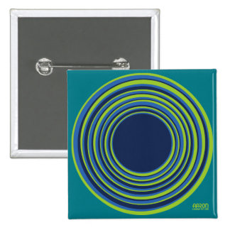 Blue and Green Circles 15 Cm Square Badge