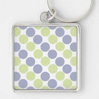 Blue And Green Dots Key Chains