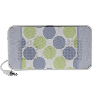 Blue And Green Dots Notebook Speaker