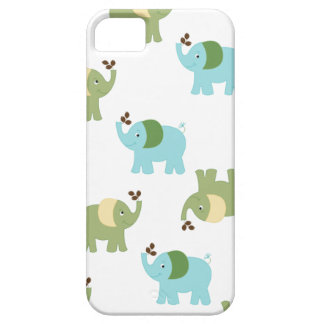 Blue and Green Elephants iPhone 5 Case