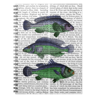 Blue and Green Fish Trio Notebook