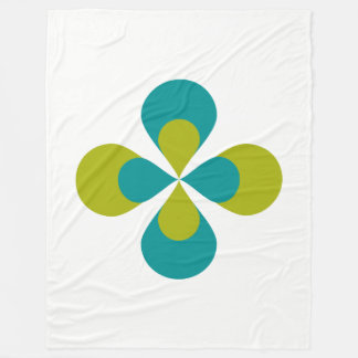 Blue and Green Floral Fleece Blanket