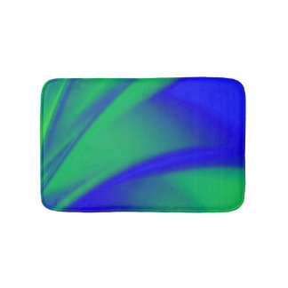 Blue and Green Flush Bath Mat
