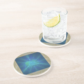 Blue And Green Fractal Coaster