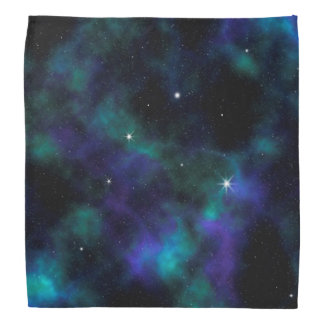 Blue and Green Galaxy Bandana