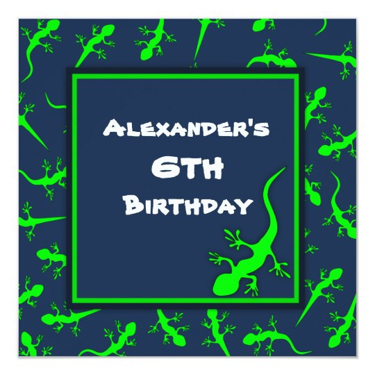 Blue and Green Gecko Lizards Theme Birthday Party