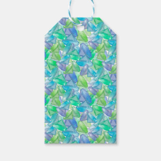 Blue and green gems . gift tags