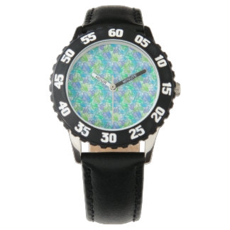 Blue and green gems . watch