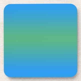 Blue And Green Gradient Coaster