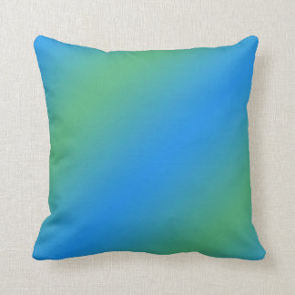 Blue And Green Gradient Cushion