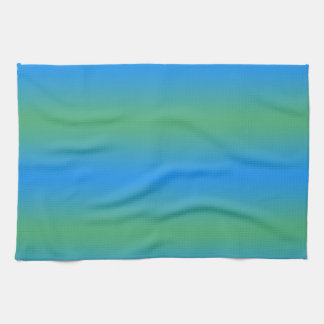 Blue And Green Gradient Tea Towel