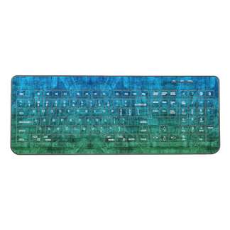 Blue And Green Gradient Wireless Keyboard