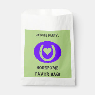 Blue and Green Horseshoe Kids Favour Bags