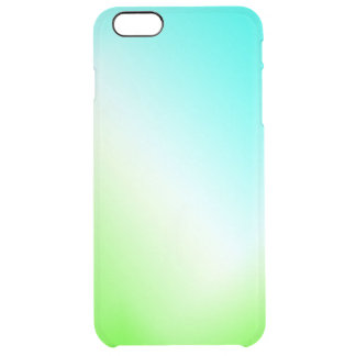 Blue and green ice clear! clear iPhone 6 plus case
