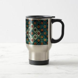 Blue and Green India Pattern Mug
