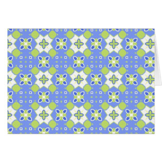 Blue and Green Kaliedscope Greeting Card