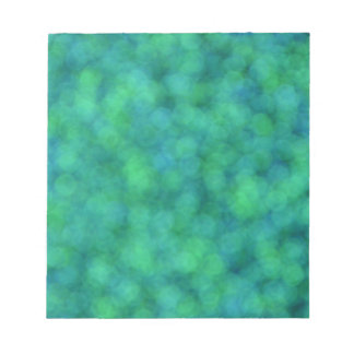 Blue and Green Lights Notepad