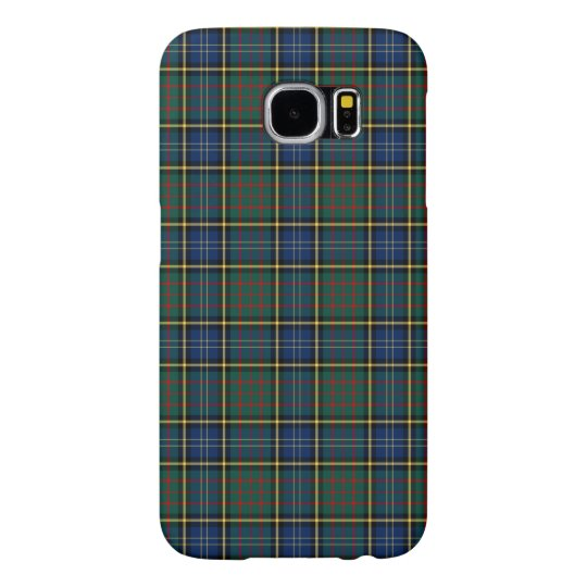Blue and Green MacMillan Clan Modern Hunting Plaid Samsung Galaxy S6 Cases