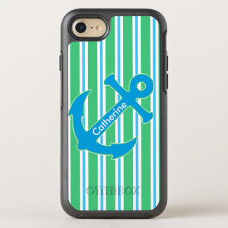 Blue and Green Nautical Anchor iPhone 6