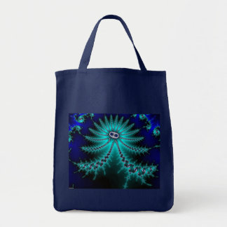 Blue and Green Octopus Fractal Tote Bag