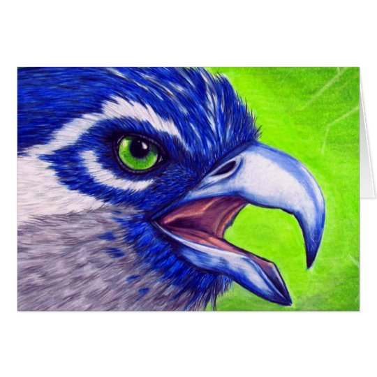 Blue and green Osprey Card