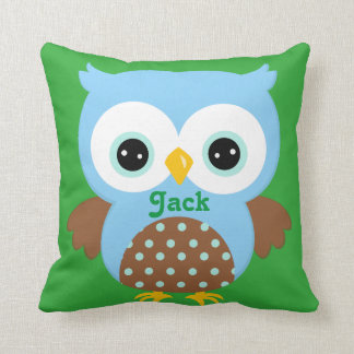 Blue and Green Owl Keepsake Cushion Baby Gift