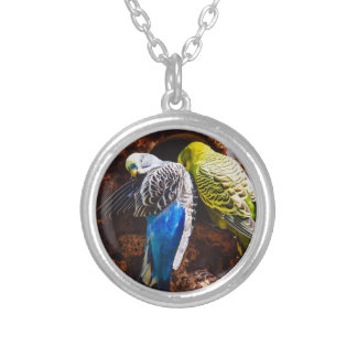 Blue and Green Parakeets, Bird Photography Jewelry