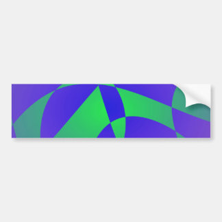 Blue and Green Passion Bumper Sticker