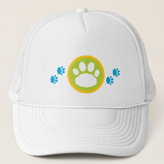 Blue and Green Paws Animal Pet Lover's Cap