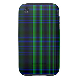Blue and Green Plaid iPhone3 Case