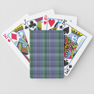 Blue and Green Plaid Pattern Abstract Bicycle Card Deck