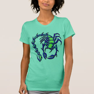 BLUE AND GREEN SCORPION T-Shirt