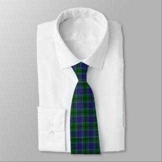 Blue and green Scott Tartan Plaid Tie