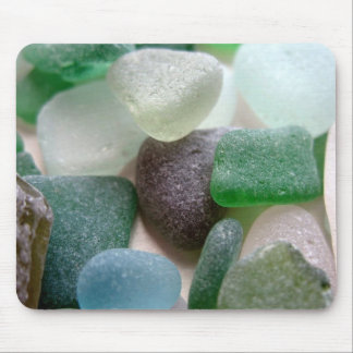 Blue and Green Sea Glass Mouse Pad