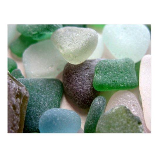 Blue and Green Sea Glass Postcard