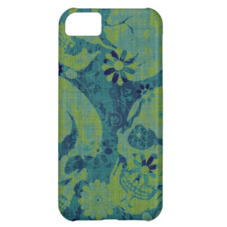 Blue and Green Skulls iPhone 5C Case