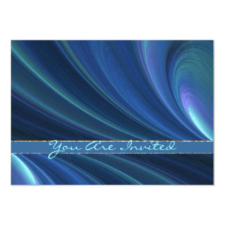 Blue And Green Soft Sand Waves 13 Cm X 18 Cm Invitation Card