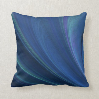 Blue And Green Soft Sand Waves Cushion