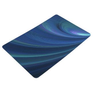 Blue And Green Soft Sand Waves Floor Mat