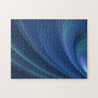 Blue And Green Soft Sand Waves Jigsaw Puzzle