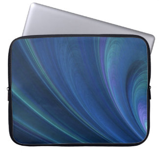 Blue And Green Soft Sand Waves Laptop Sleeve