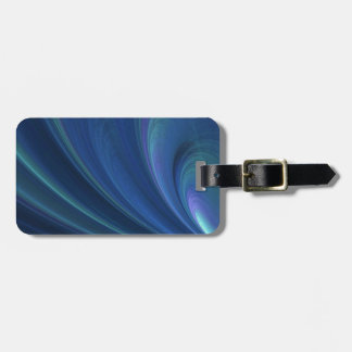 Blue And Green Soft Sand Waves Luggage Tag