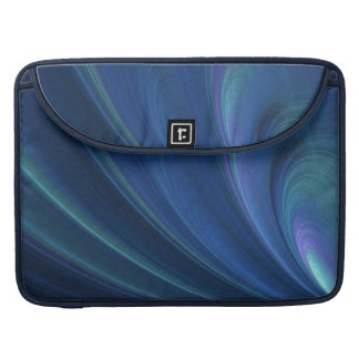 Blue And Green Soft Sand Waves Sleeve For MacBook Pro