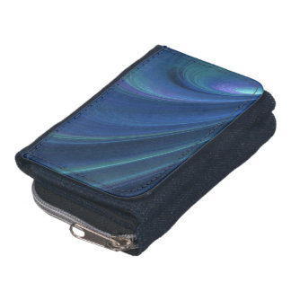 Blue And Green Soft Sand Waves Wallet