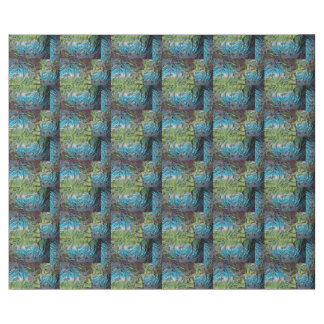 Blue and Green Stained Glass Wrapping Paper II