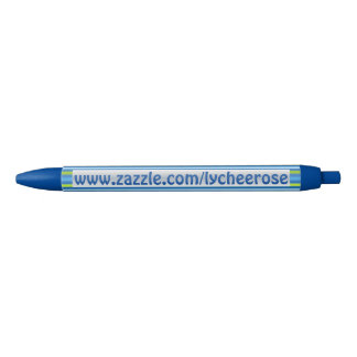 Blue and Green Stripes lycheerose pen