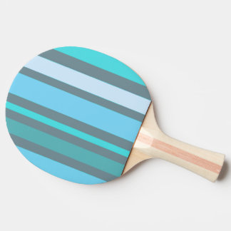 Blue and Green Stripes Ping Pong Paddle