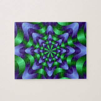 Blue and Green Swirl Puzzle